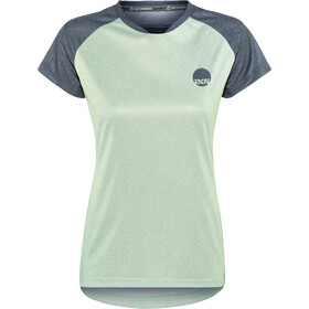 IXS Flow Jersey korte mouwen Dames, light jade/graphite